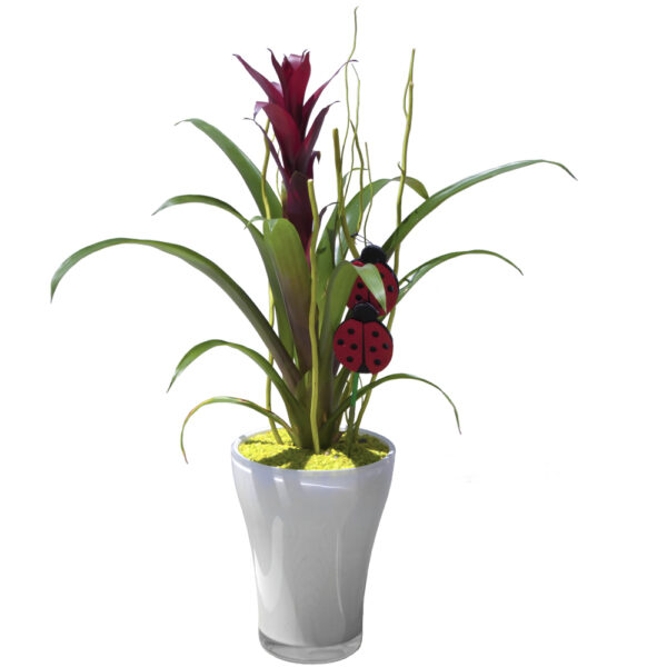 Planta con jarrón