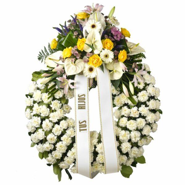 Corona funeraria B - Floristería Núñez