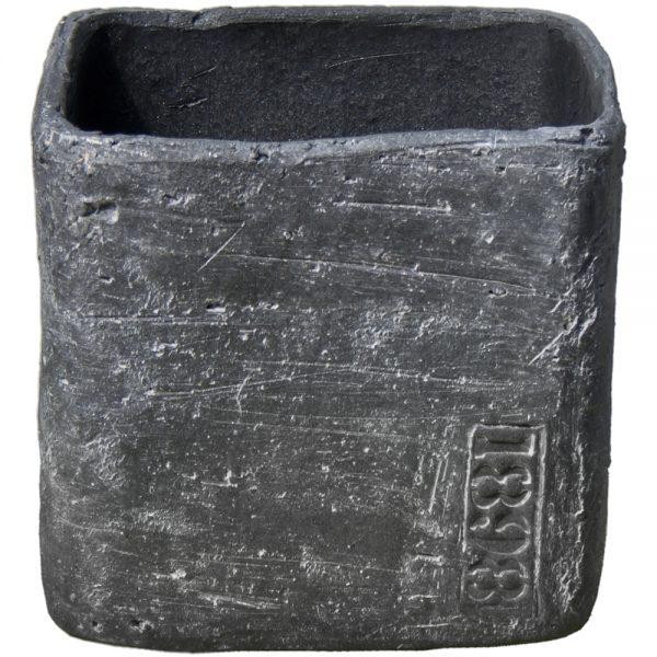 Macetero de cerámica gris b