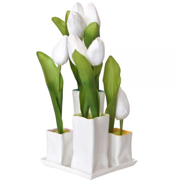 Tulipanes artificiales