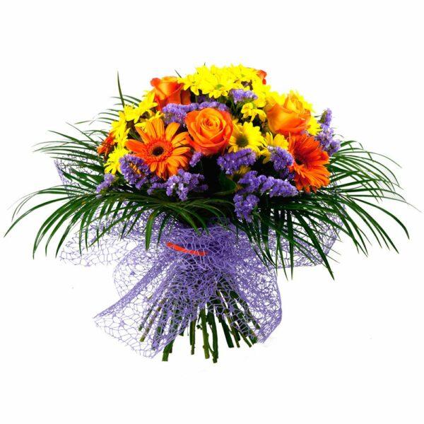 Ramo de flores amarillas y naranjas - Floristería Núñez