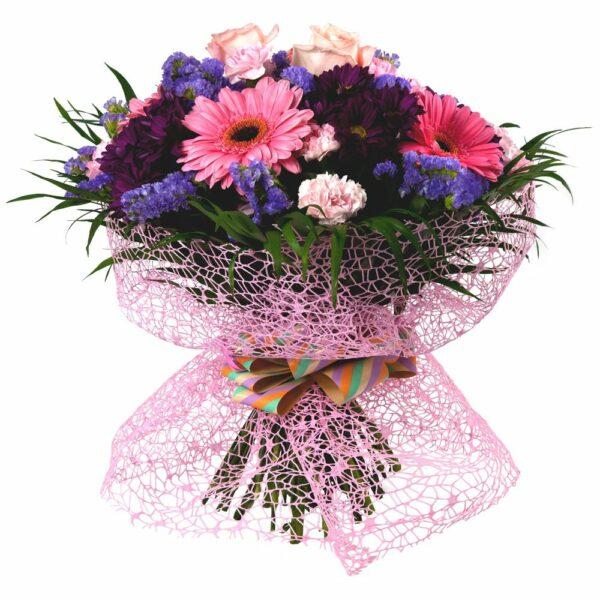 amo de flores en tonos rosas - Floristería nunez