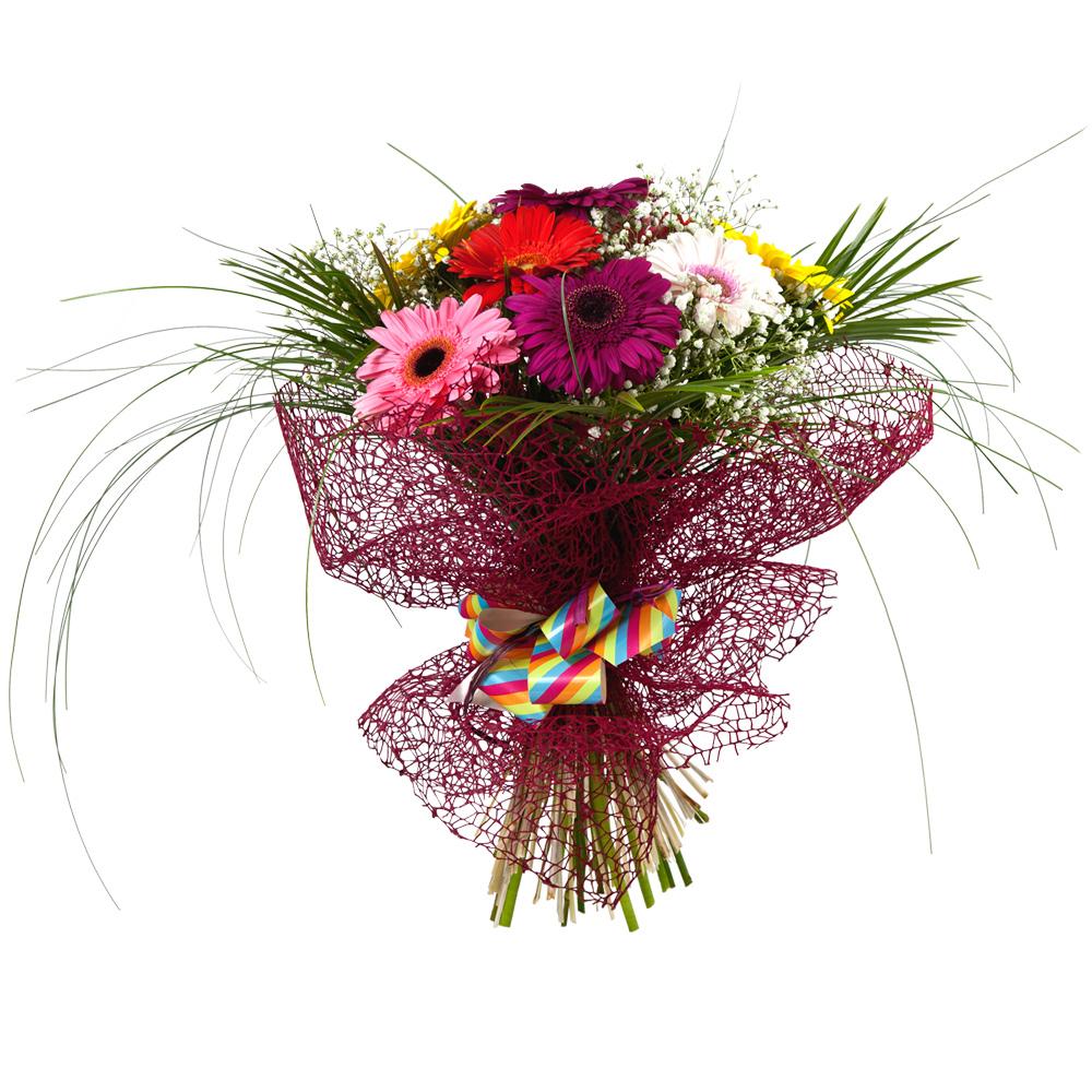 Ramo De Gerberas Variadas Flores Nunez