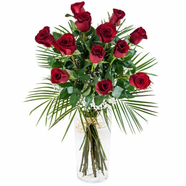 Ramo de doce rosas - Floristería Núñez