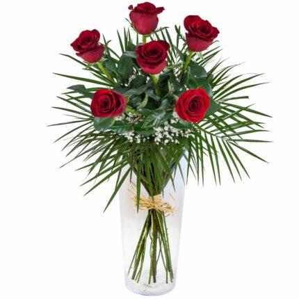 Ramo de seis rosas - Floristería Nuñez