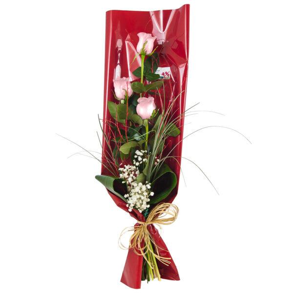 Ramo-de-3-rosas-rosas