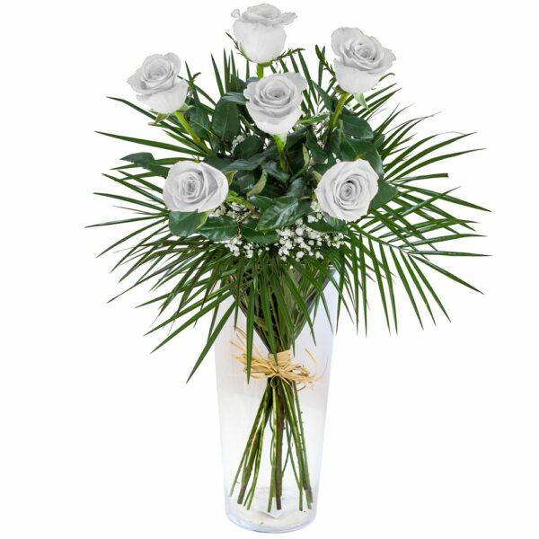Ramo de seis rosas blancas- Floristería Nuñez.jpg