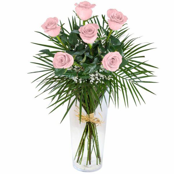 amo de seis rosas rosas- Floristería Nuñez