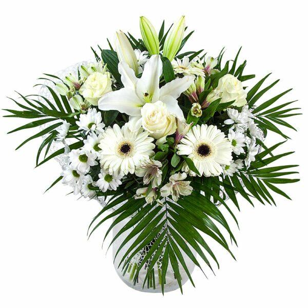 Ramo de flores blancas - Flores Núñez