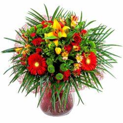 Ramo en tonos rojos - Flores Núñez